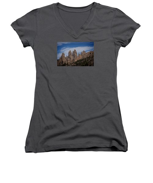 Needles, North Dakota Women's V-Neck T-Shirt