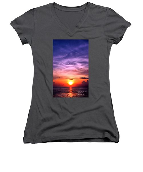 Negril Sunset Women's V-Neck (Athletic Fit)