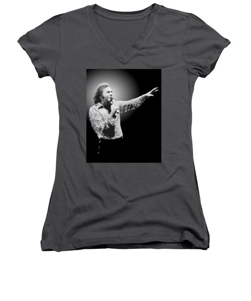 Neil Diamond Reaching Out Women's V-Neck (Athletic Fit)