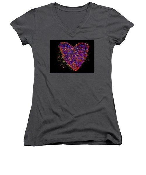 Neon Heart Women's V-Neck