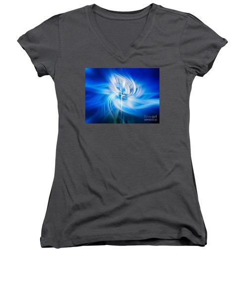 Neon Wisp Women's V-Neck T-Shirt