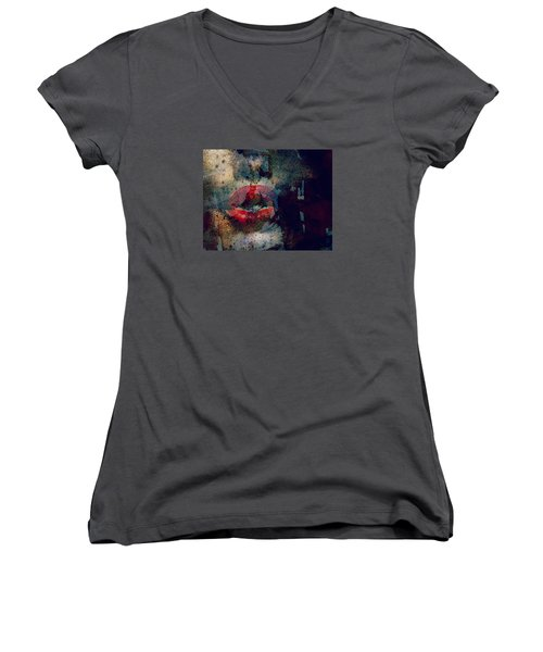 Never Had A Dream Come True  Women's V-Neck T-Shirt (Junior Cut) by Paul Lovering