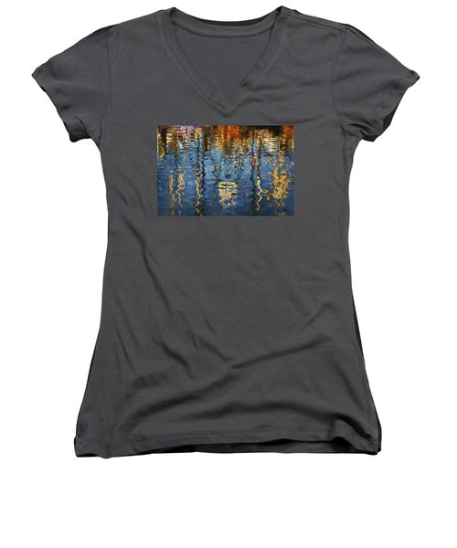 New Bedford Waterfront No. 5 Women's V-Neck T-Shirt