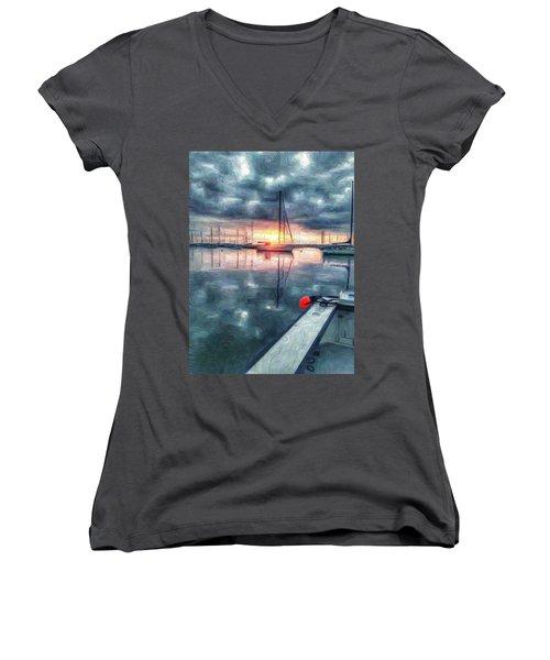 New Dawn Owen Park Women's V-Neck T-Shirt