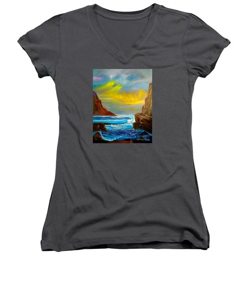 New Day In Paradise Women's V-Neck (Athletic Fit)