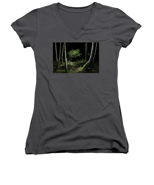New Growth - Birch Sapling Women's V-Neck T-Shirt