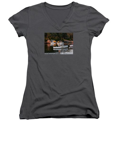 New Harbor, Maine Women's V-Neck (Athletic Fit)