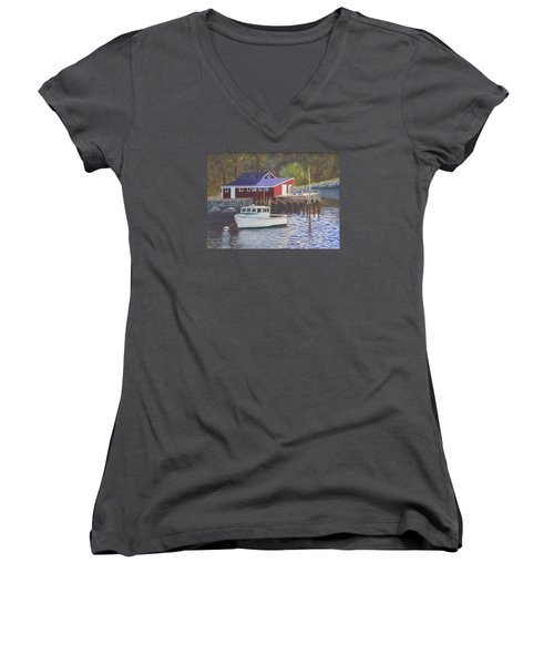 New Harbor Sunrise Women's V-Neck