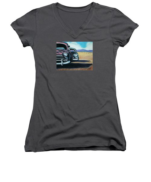 New Mexico Junkyard Women's V-Neck (Athletic Fit)