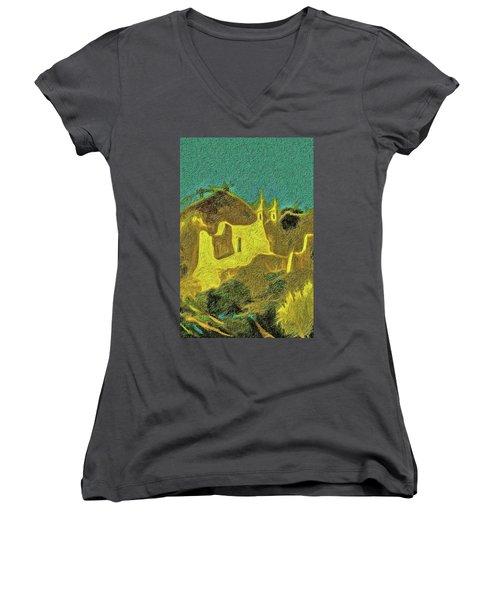 New Mexico Skyline Women's V-Neck T-Shirt