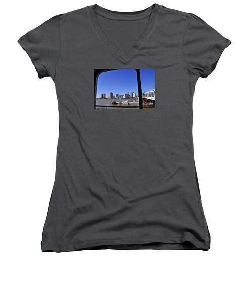 New Orleans Skyline Women's V-Neck (Athletic Fit)