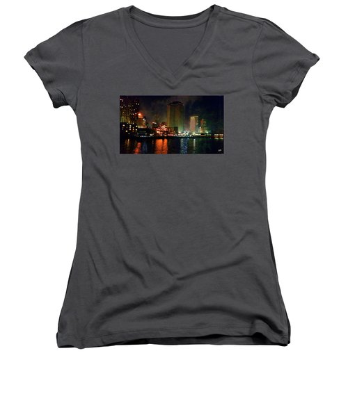 New Orleans Waterfront Women's V-Neck (Athletic Fit)
