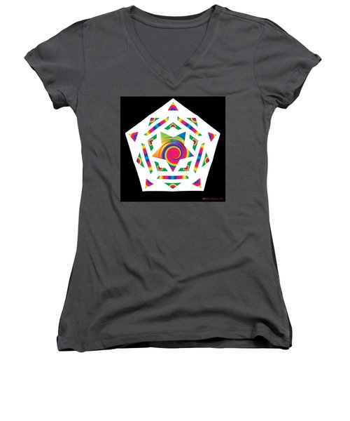 New Star 2a Women's V-Neck T-Shirt (Junior Cut) by Eric Edelman