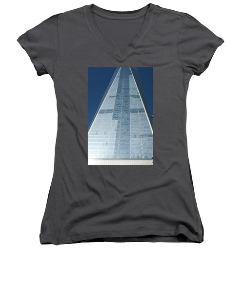 New World Trade Center Women's V-Neck (Athletic Fit)