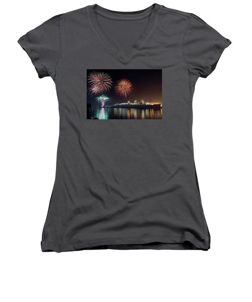 New Years With The Queen Mary Women's V-Neck