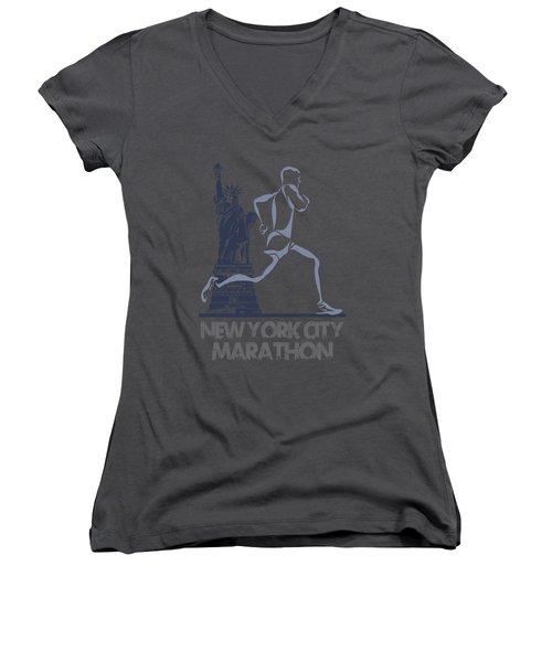 New York City Marathon3 Women's V-Neck (Athletic Fit)