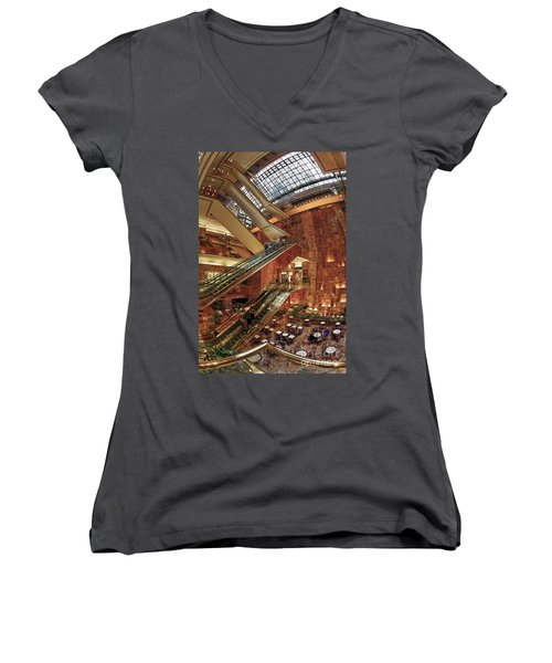 Women's V-Neck featuring the photograph New York Trump Tower  by Juergen Held