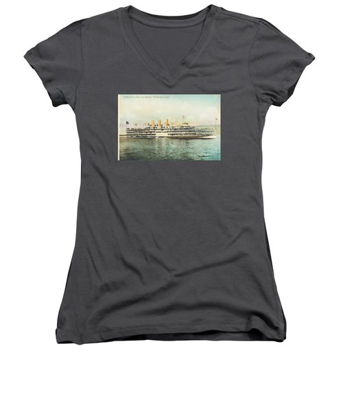 Newburgh Steamers Ferrys And River - 30 Women's V-Neck (Athletic Fit)