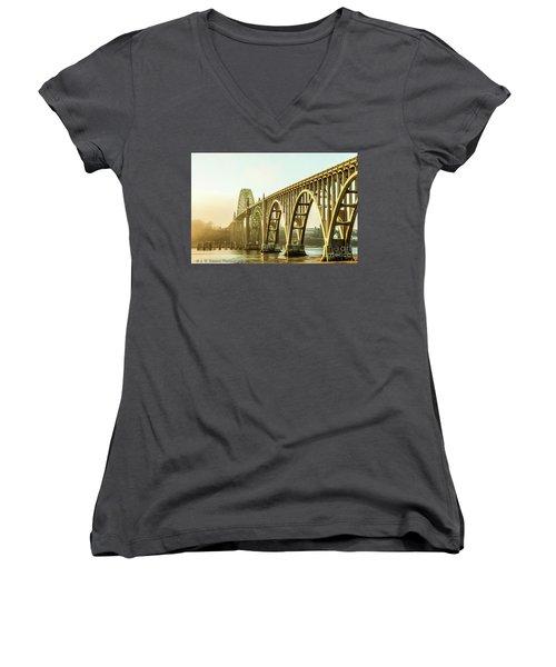 Newport Bridge Women's V-Neck T-Shirt
