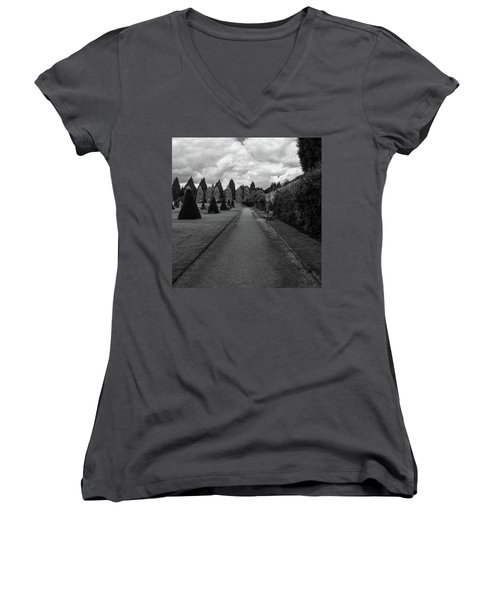 Newstead Abbey Country Garden Gravel Path Women's V-Neck (Athletic Fit)