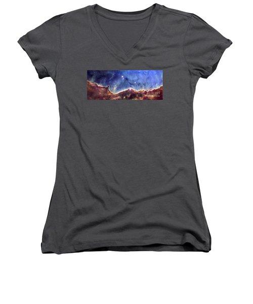 Ngc 3324  Carina Nebula Women's V-Neck T-Shirt