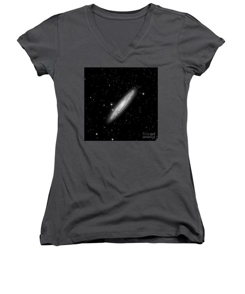 Ngc253 The Sculptor Galaxy Women's V-Neck (Athletic Fit)