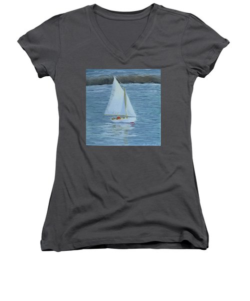 Nice Day For A Sail Women's V-Neck