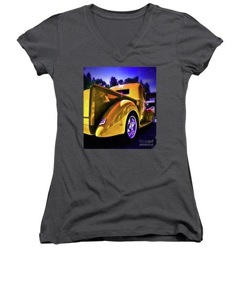 Nice Rear Edited Women's V-Neck T-Shirt