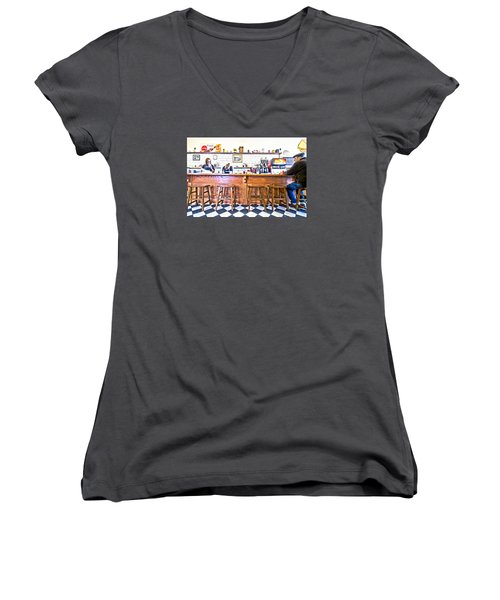Nick's Diner Women's V-Neck