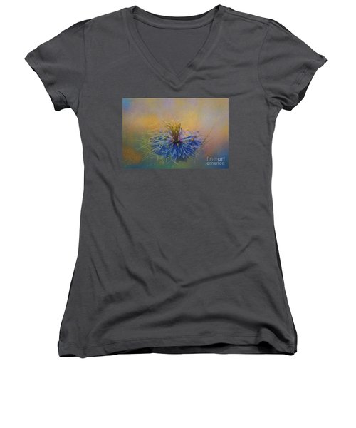 Nigella Women's V-Neck T-Shirt (Junior Cut) by Eva Lechner