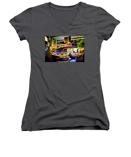 Night At Bar Women's V-Neck