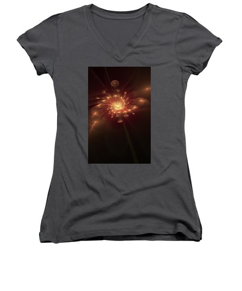 Night Bloom Women's V-Neck T-Shirt
