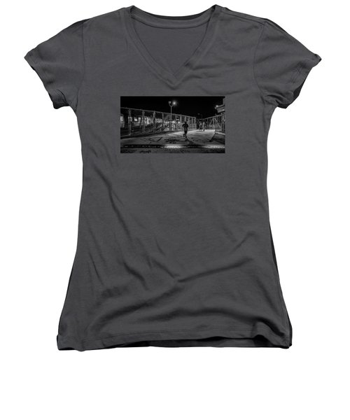 Night Commute  Women's V-Neck (Athletic Fit)