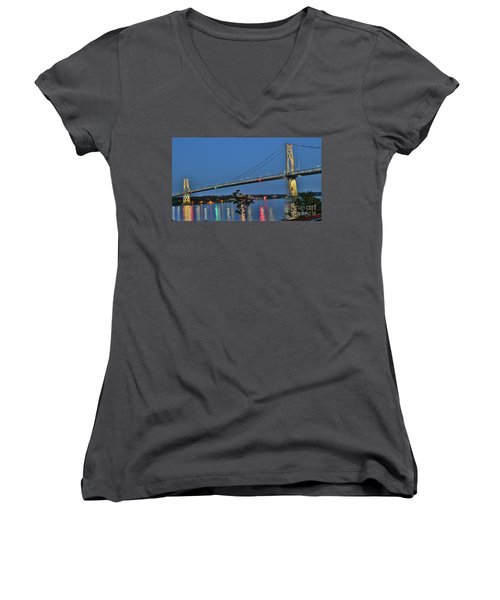 Night Flights Women's V-Neck (Athletic Fit)