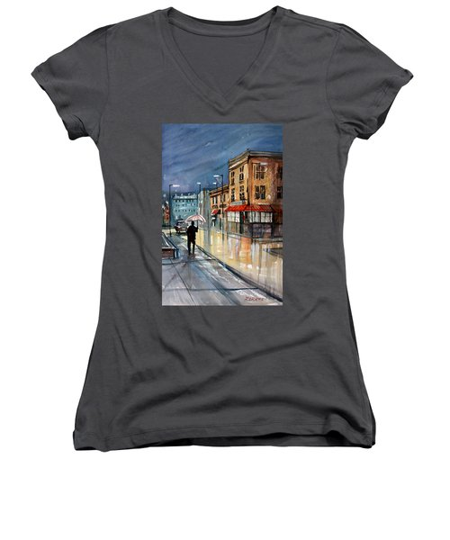Night Lights Women's V-Neck (Athletic Fit)