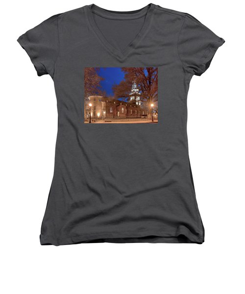 Night Lights St Anne's In The Circle Women's V-Neck (Athletic Fit)