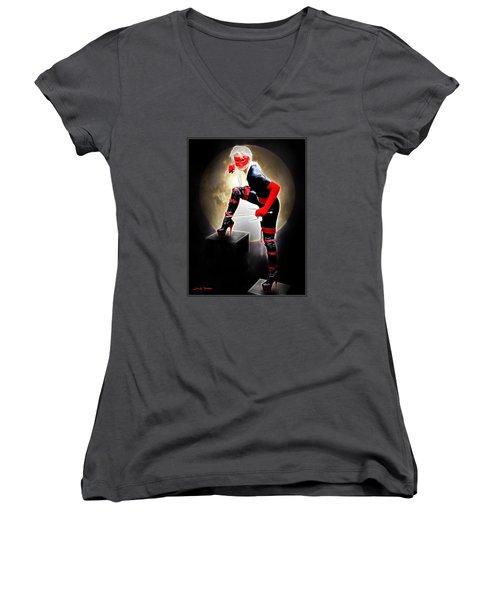 Night Of The Avenger Women's V-Neck T-Shirt (Junior Cut)