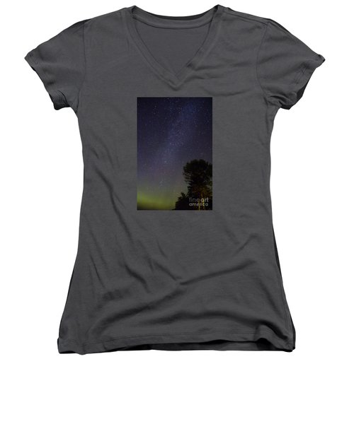 Night Sky Women's V-Neck T-Shirt