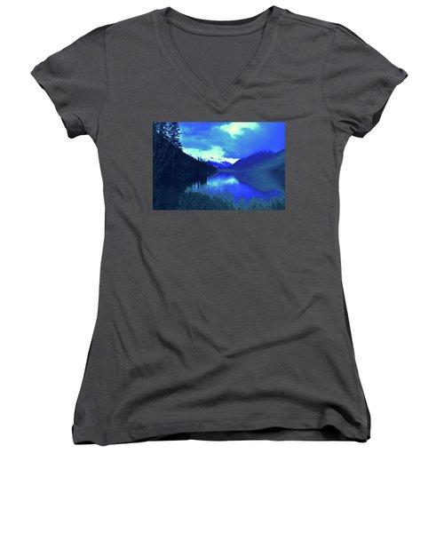 Night Sky Women's V-Neck T-Shirt