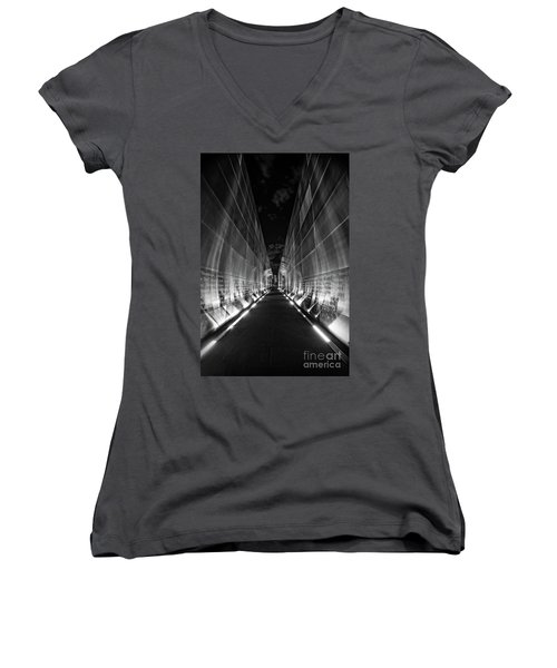 Night Time At Empty Sky Memorial Women's V-Neck (Athletic Fit)