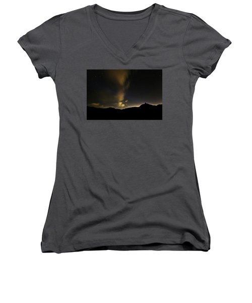 Night Time At Palo Duro Canyon State Park - Texas Women's V-Neck
