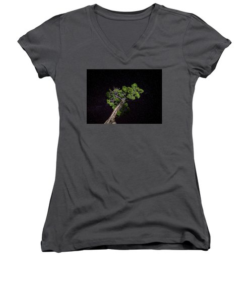 Night Tree Women's V-Neck