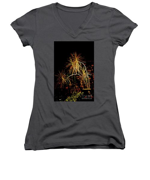 Women's V-Neck T-Shirt (Junior Cut) featuring the photograph Nightmares Are Made Of This by Al Bourassa