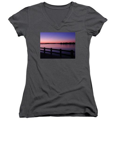 Night's Calling Women's V-Neck T-Shirt (Junior Cut) by Allen Beilschmidt