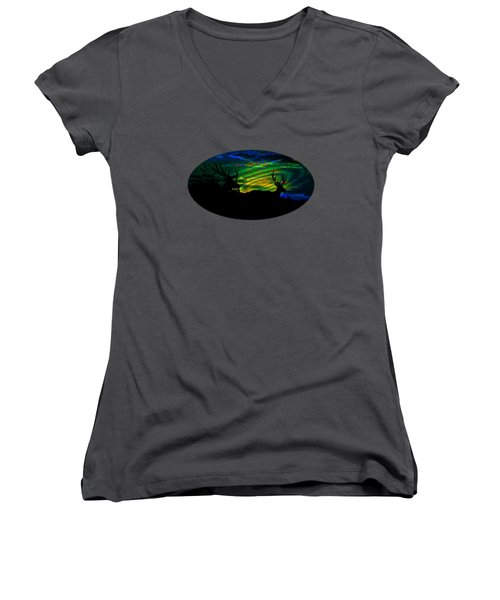 Nightwatch Women's V-Neck T-Shirt (Junior Cut) by Mike Breau