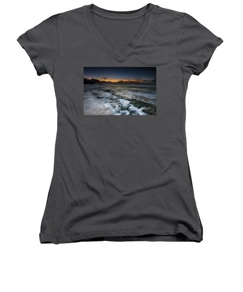 Nimitz Beach Sunrise Women's V-Neck T-Shirt
