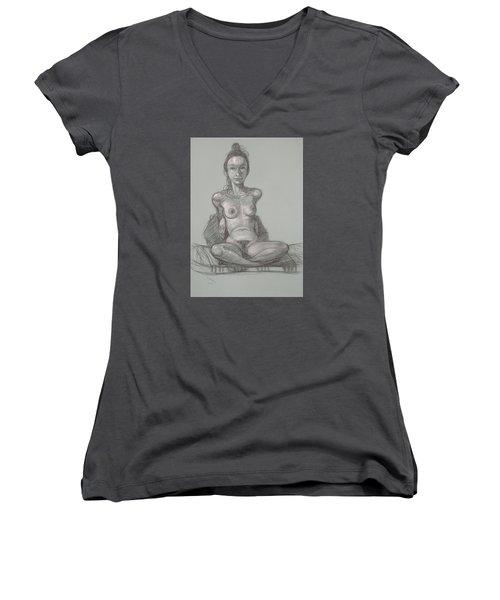 Nina Seated Women's V-Neck T-Shirt
