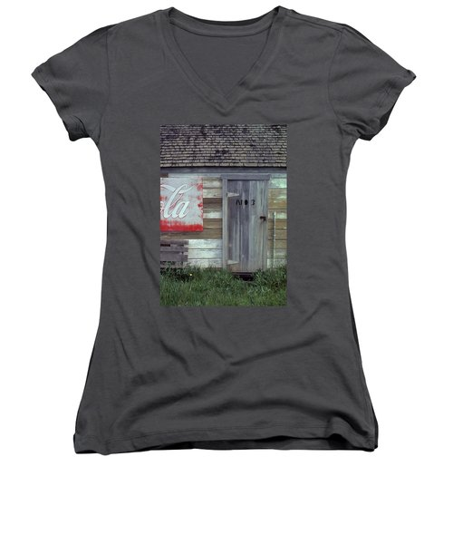 Women's V-Neck T-Shirt (Junior Cut) featuring the photograph No. 3 by Laurie Stewart