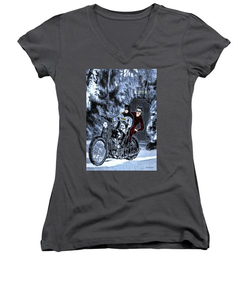 No Cat Woman..this Is Not A Date Women's V-Neck T-Shirt