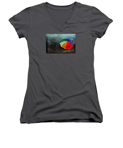 No Day For A Tan Women's V-Neck T-Shirt